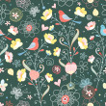 Flower texture with birds — Stock Vector
