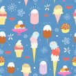 Pattern of bright ice cream — Stock Vector
