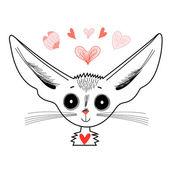狐狸的图形画像 — 图库矢量图片