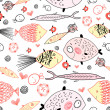 Royalty-Free Stock Vector Image: Texture of fish lovers