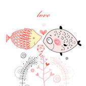 Fish lovers — Stock Vector