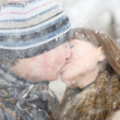 Winter kiss — Stock Photo