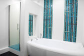 A mondren bathroom — Stock Photo