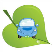 Eco_fuel_car — Stock Vector