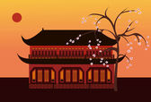 Chinese_temple — Stock Vector