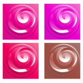 Set of curl backgrounds — Stock Vector