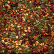 Herb and chili mix background - Stock Photo