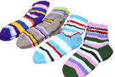 Punto color calcetines — Foto de Stock