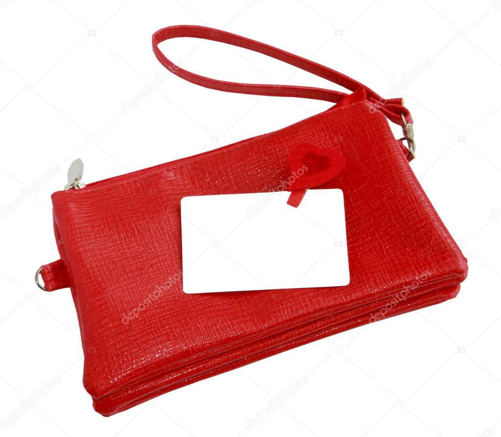 A small red female bag with white cut-away  — Stock Photo #5222800