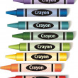 Colorful crayons — Vector de stock