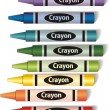 Colorful crayons — Vector de stock #4908701