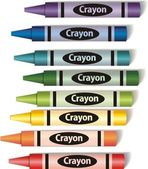 Colorful crayons — Stock Vector