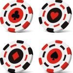 Vector poker chips — Stock Vector #4980293