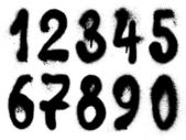 Hand drawn graffiti grunge numbers — Stock Photo