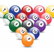 Billiard balls — Stock Vector
