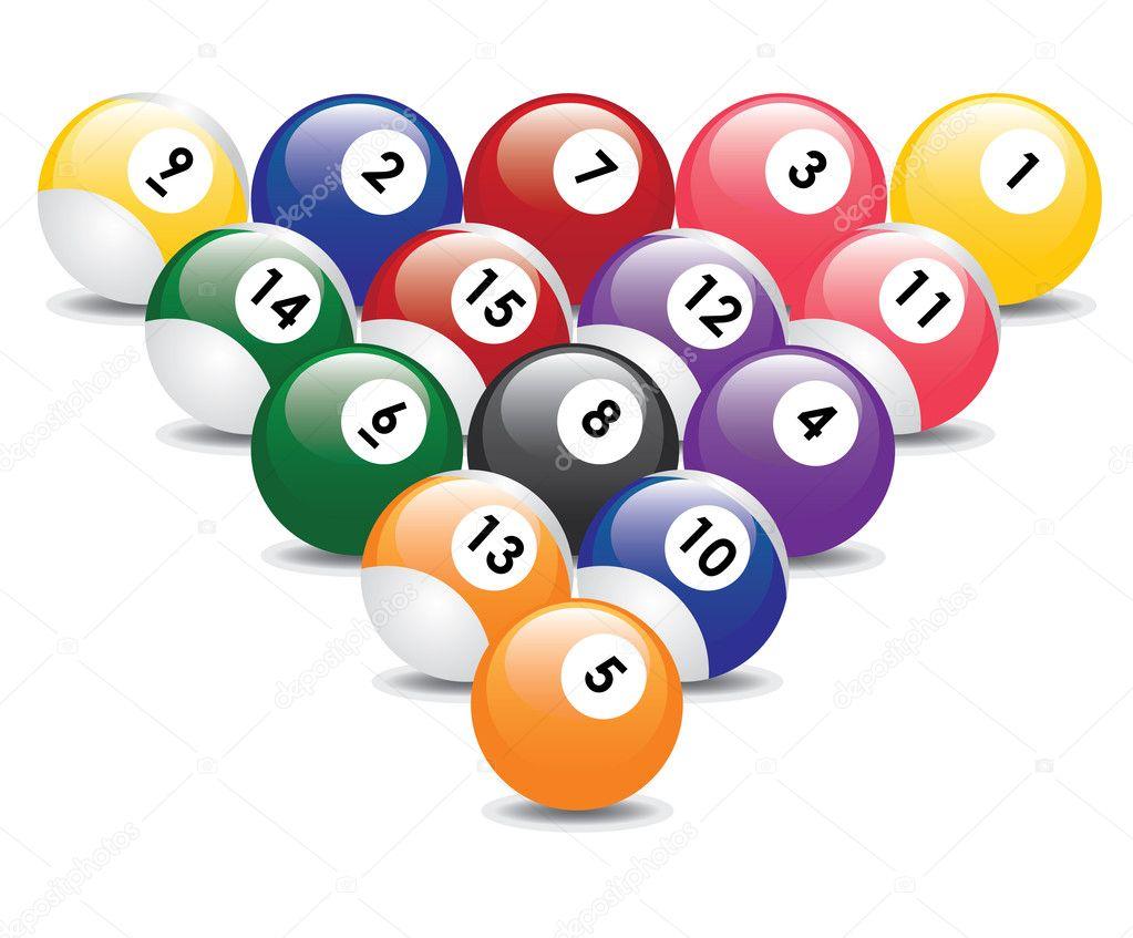 Billiard balls — Stock Vector © Neokryuger #4745327