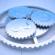Gears of Economics — Stock Photo