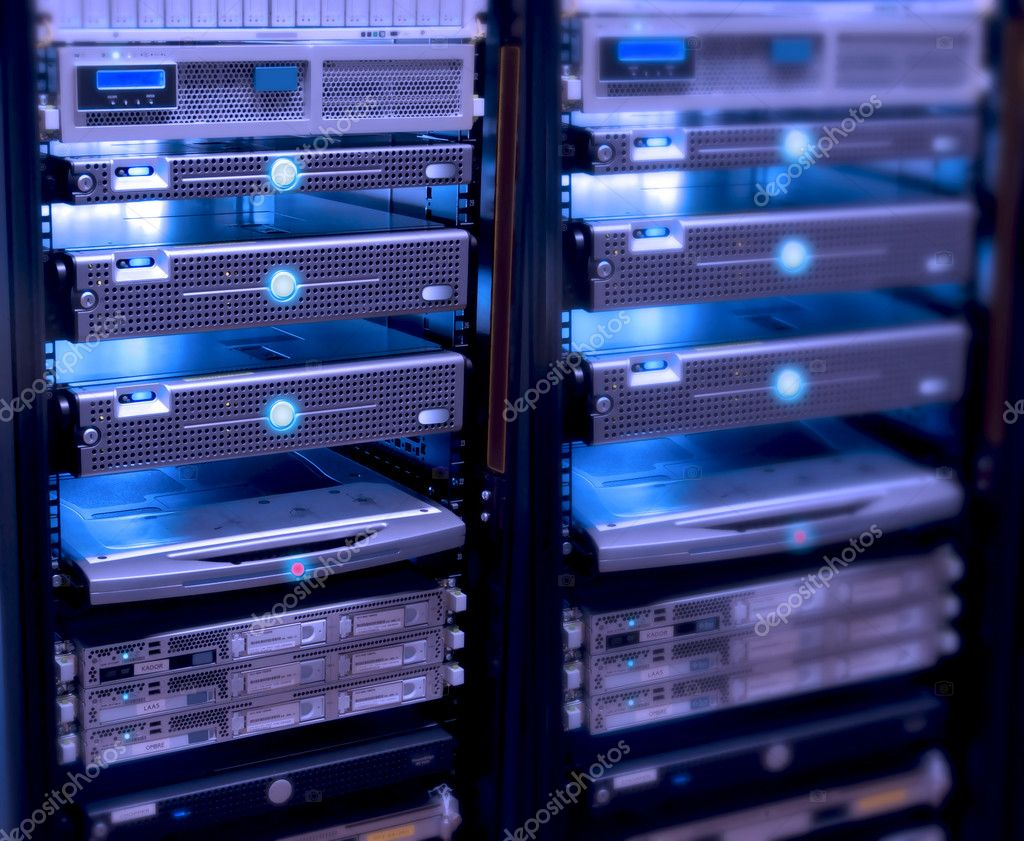 Connected servers,server room — Stock Photo #4723066