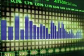 Financial graph — Stock Photo