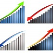 Stock Photo: Increase decrease graphs