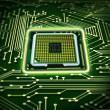 Abstract microchip - Stock Photo