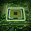 Abstract microchip - Foto Stock