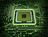 抽象微芯片 — 图库照片