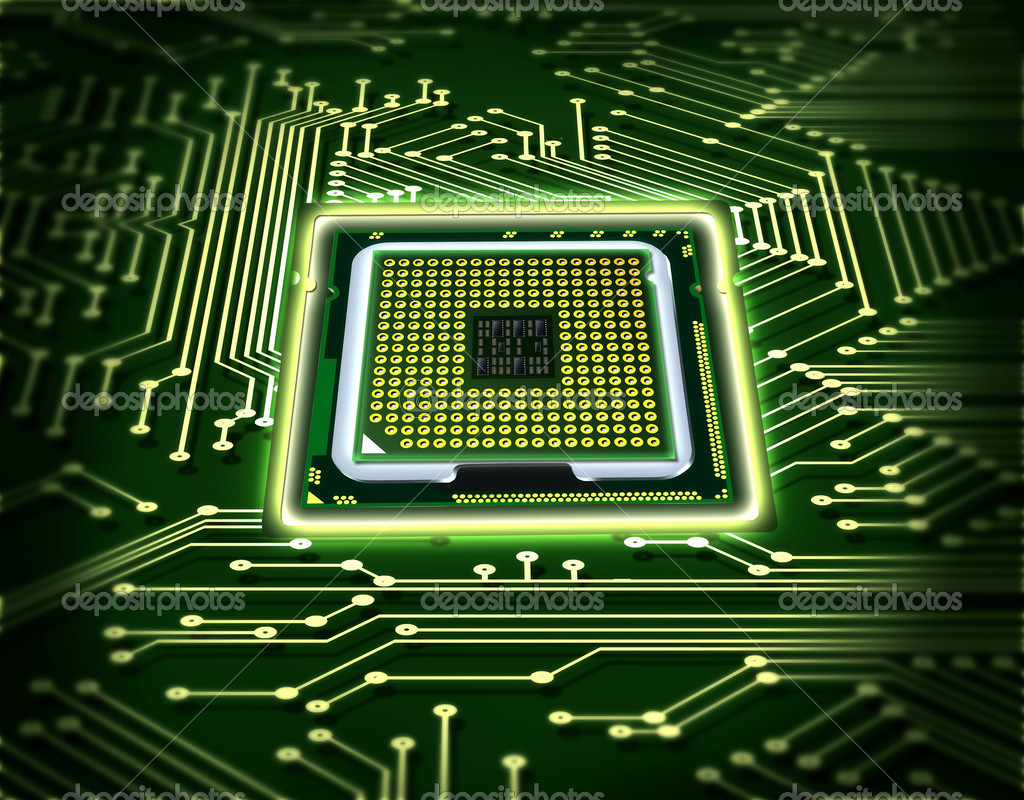 Abstract microchip  Stock Photo #5375682