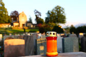 On a cemetery — Stock Photo