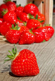 Berry in Front of a Basket — Stock Photo