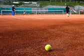 Kids playing Tennis — Stock Photo