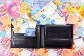 Wallet full of Swiss Francs — Stock Photo