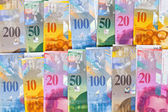 Swiss francs — Stock Photo