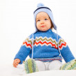 Kid in Winter-Clothes — 图库照片