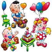 Baby birthday — Stock Vector