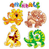 Animals cartoon 1 — Stock Vector