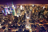 Vista di manhattan dall'empire state building, new york city, — Foto Stock