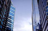Glas kantoorgebouwen — Stockfoto