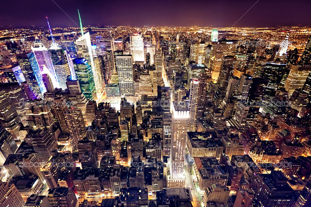 View of Manhattan from The Empire State Building, New York City, USA  Stock Photo #4791657