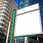 Big blank advertising construction — Stock Photo