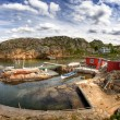Typical small swedish fishing village — Stock Photo #5372861