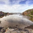 Typical small swedish fishing village - Stock Photo