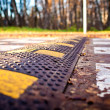 Road barrier - Stock Photo