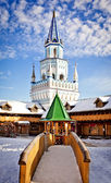 Decorated towers in Kremlin in Izmailovo — Stock Photo