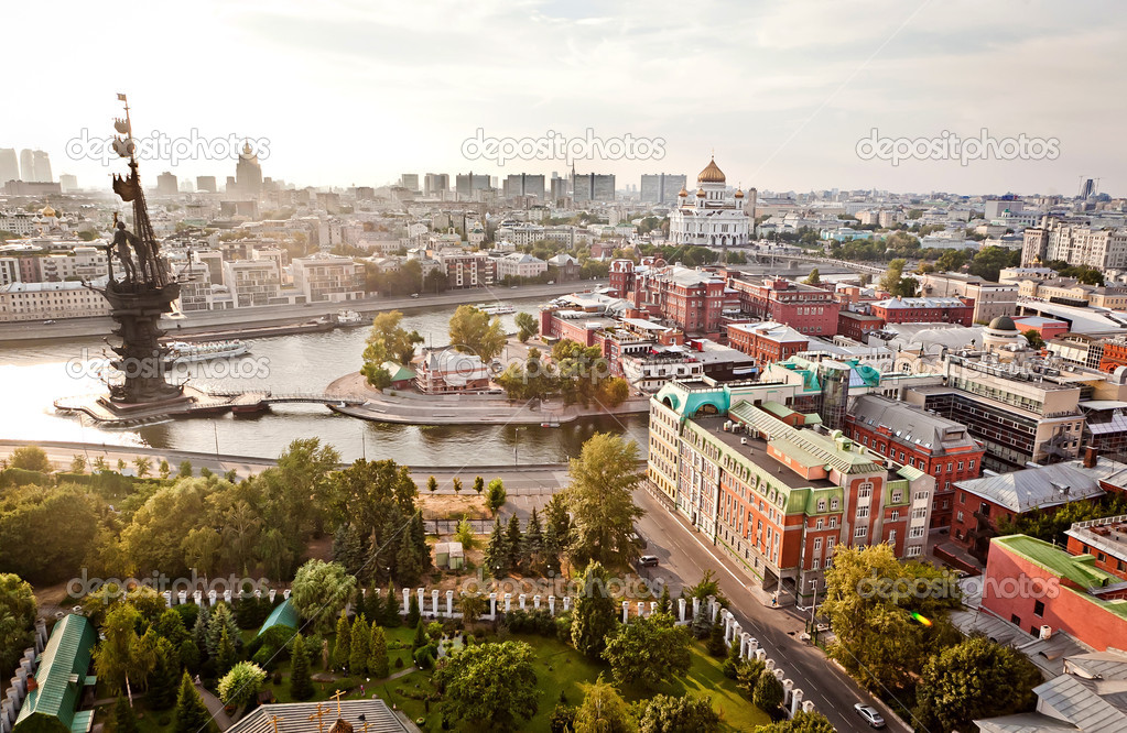 Aerial Moscow city panorama — Stock Photo #5372795