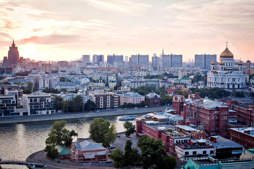 モスクワのパノラマ– ストック画像
