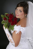 Beautiful bride smiling — Stock Photo
