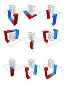 Heat pump diagrams — Stock Vector