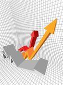 Business diagram — Stock Vector