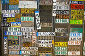 Car plates — Stock fotografie